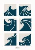 Vastgesteld het Embleem abstract ontwerp van de Watergolf De Sport Logoty van de schoonheidsmiddelenbranding Royalty-vrije Stock Afbeeldingen