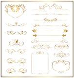 Vastgesteld kalligrafisch goud stock illustratie