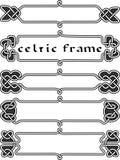 Vastgesteld Keltisch kader Royalty-vrije Stock Foto's