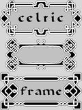 Vastgesteld Keltisch kader Royalty-vrije Stock Foto