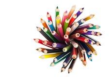 Vastgesteld kleurenpotlood Stock Afbeeldingen