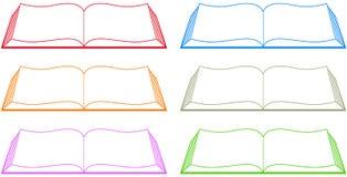 Vastgesteld kleurrijk boek Stock Foto