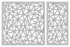 Vastgesteld malplaatje voor knipsel Abstract lijnpatroon Laserbesnoeiing Rati stock illustratie