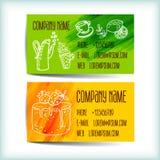 Vastgesteld modern adreskaartjemalplaatje Royalty-vrije Stock Afbeeldingen