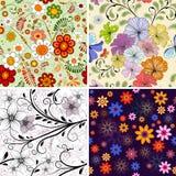 Vastgesteld naadloos bloemenpatroon Royalty-vrije Stock Foto's