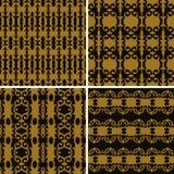 Vastgesteld naadloos decoratief patroon Royalty-vrije Stock Fotografie