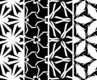 Vastgesteld naadloos decoratief patroon Royalty-vrije Stock Afbeeldingen