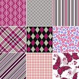 Vastgesteld naadloos kleurrijk uitstekend patroon vector illustratie