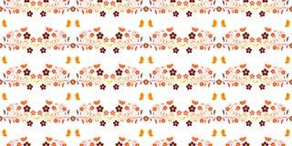 Vastgesteld naadloos patroon met de herfstbloemen Voor ontwerp, behang, Royalty-vrije Stock Afbeelding