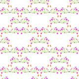 Vastgesteld naadloos patroon met de zomerbloemen Stock Foto