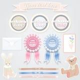 Vastgesteld ontwerp voor kinderen Welkom baby Vector illustratie Royalty-vrije Illustratie