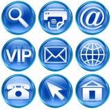 Vastgesteld pictogram blauwe #02. royalty-vrije stock afbeelding