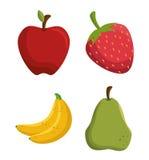 vastgesteld smakelijk vruchten gezond voedsel Stock Fotografie
