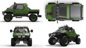 Vastgesteld speciaal voertuig geschikt voor elk terrein voor moeilijk terrein en moeilijke weg en weersomstandigheden het 3d teru Stock Afbeeldingen
