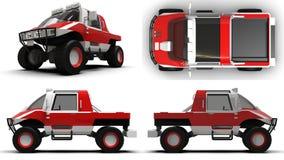 Vastgesteld speciaal voertuig geschikt voor elk terrein voor moeilijk terrein en moeilijke weg en weersomstandigheden het 3d teru Stock Foto's