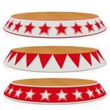 Vastgesteld stadiumcircus - ring (de weg spaart) Royalty-vrije Stock Foto's