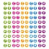 Vastgesteld Web 2.0 van het pictogram Royalty-vrije Stock Afbeeldingen