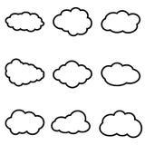 Vastgesteld Wolkenpictogram, vectorillustratiesymbool vector illustratie