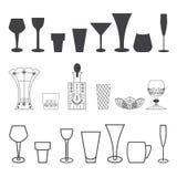 Vastgesteld zwart-wit glas Royalty-vrije Stock Foto