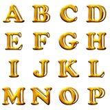 Vastgestelde 3D brieven Stock Fotografie