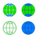 Vastgestelde Aardeillustratie voor ontwerp Stock Afbeelding