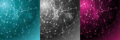 Vastgestelde abstracte communicatie achtergronden. Royalty-vrije Stock Fotografie