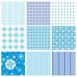 Vastgestelde abstracte naadloze patronen royalty-vrije illustratie