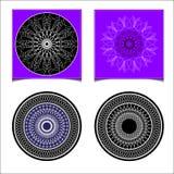 Vastgestelde abstracte ronde Stock Fotografie