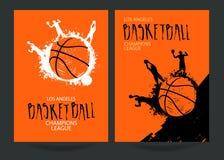 Vastgestelde affiches voor basketbal Royalty-vrije Stock Foto