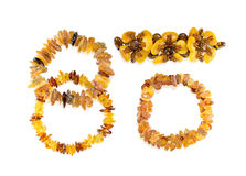 Vastgestelde amberjuwelen Royalty-vrije Stock Afbeelding