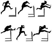 Vastgestelde atletiek lopende hindernissen royalty-vrije illustratie