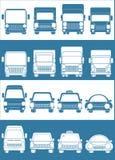 Vastgestelde blauwe en witte auto Royalty-vrije Stock Foto