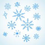 Vastgestelde blauwe sneeuwvlokkenkrabbel Royalty-vrije Stock Foto's