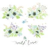 Vastgestelde bloemen Royalty-vrije Stock Fotografie