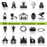 Vastgestelde christelijke pictogrammen Stock Afbeelding