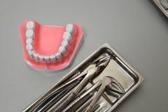 Vastgestelde close-up van de Professinal de tandchirurgie Stock Afbeelding