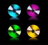 Vastgestelde compact-discs, Royalty-vrije Stock Foto's