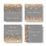 Vastgestelde confettien op een transparante achtergrond Stock Foto's