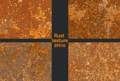 Vastgestelde corrosie roestige textuur, imitatie van roest royalty-vrije illustratie