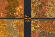 Vastgestelde corrosie roestige textuur, imitatie van roest vector illustratie