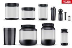 Vastgestelde de Vitaminecontainers van de Modelsport Stock Foto's