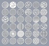 Vastgestelde decoratieve cirkelkaart voor knipsel Rond Abstract geometrisch lineair patroon Laserbesnoeiing Vector illustratie vector illustratie