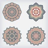 Vastgestelde decoratieve patroonreeks van rondschrijven Stock Foto's