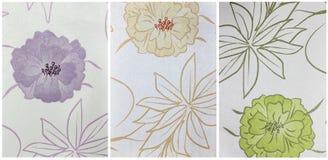 Vastgestelde document textuur, met bloempatroon Stock Afbeeldingen