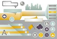 Vastgestelde elementen van infographic. Royalty-vrije Stock Fotografie