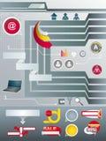Vastgestelde elementen van infographic. Royalty-vrije Stock Foto