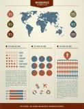 Vastgestelde elementen van infographics Royalty-vrije Stock Afbeelding