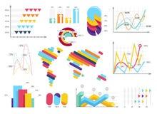 Vastgestelde elementen van infographics Informatiebars, graphycs royalty-vrije illustratie