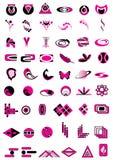 Vastgestelde embleemelementen Royalty-vrije Stock Afbeeldingen