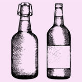 Vastgestelde fles bier Royalty-vrije Stock Fotografie